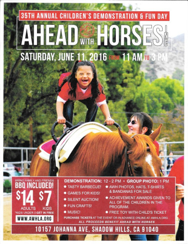 AWH: Children's Annual Demonstration & Fun Day @ Ahead With Horses | Los Angeles | California | United States