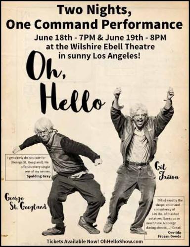 """""""Oh Hello"""" at the Wilshire Ebell @ Wilshire Ebell Theatre 