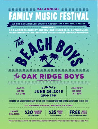 The Beach Boys at the 24th Family Music Festival @ Los Angeles County Arboretum & Botanic Garden | Arcadia | California | United States