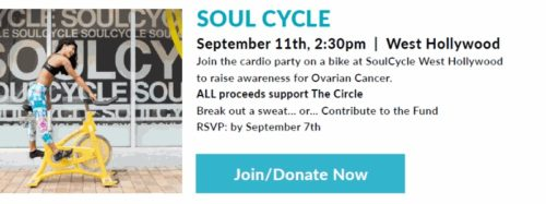 Soul Cycle to Support Ovarian Cancer @ SoulCycle West Hollywood | West Hollywood | California | United States